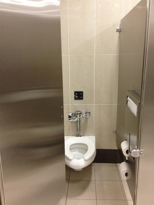 IAD Washington Dulles airport bathroom individual stall