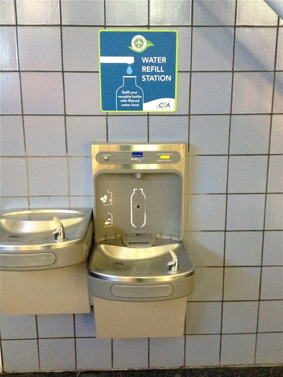 ORD Chicago O'Hare airport water fountain