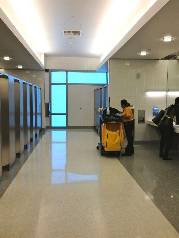 SAN San Diego airport bathroom stalls
