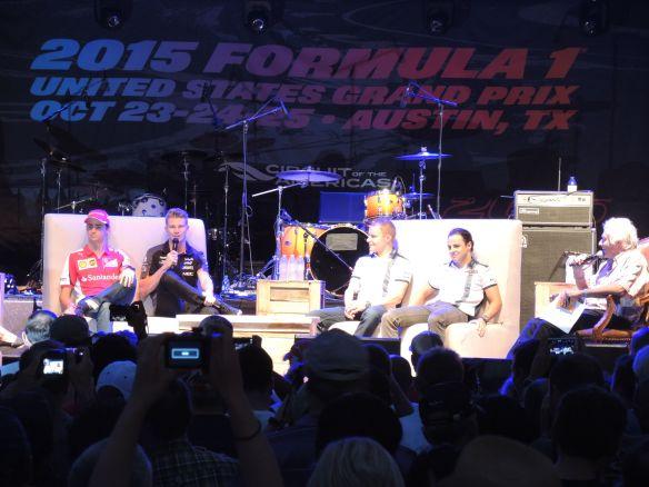 COTA Formula 1 Fan Fest Gutierrez Hulkenberg Bottas Massa