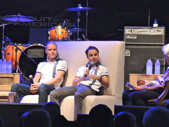 Williams Martini Racing Formula 1 drivers Valtteri Bottas and Felipe Massa at COTA Fan Fest