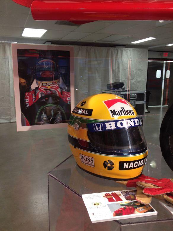 Aryton Senna helmet Formula 1 USGP Austin
