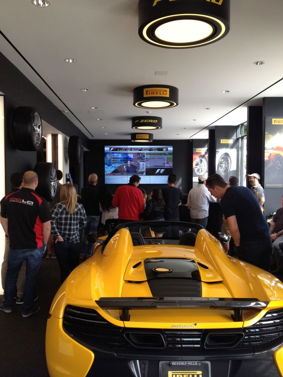 McLaren at Pirelli P Zero World for LA F1 fans viewing