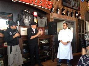 Chef Paolo de la Corte of the restaurant Sunset da Mona Lisa at Sabor a Cabo event at Rock & Brews El Segundo