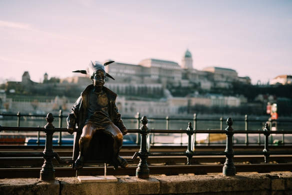 The Little Princess statue along the Danube River by Flytographer Roky