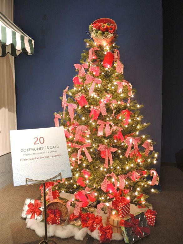 Ball Christmas tree by the Ball Brothers Foundation at Indiana Historical Society