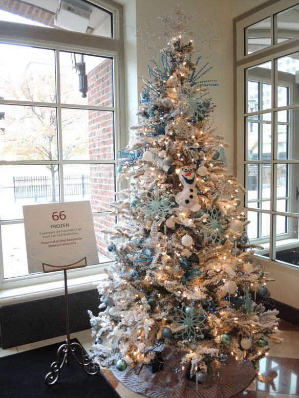 Frozen themed tree at Indiana Historical Society FOTrees
