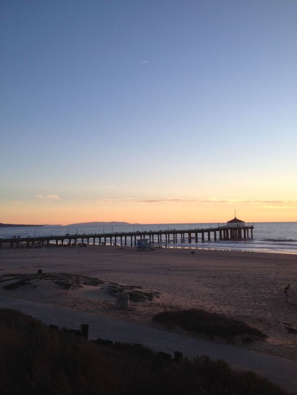 Manhattan Beach Pier with Catalina Island in the distance