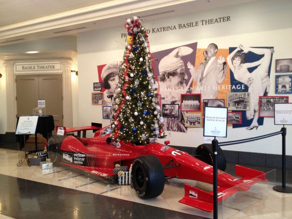 Indianapolis Motor Speedway sponsored Christmas tree at Indiana Historical Society FOTrees