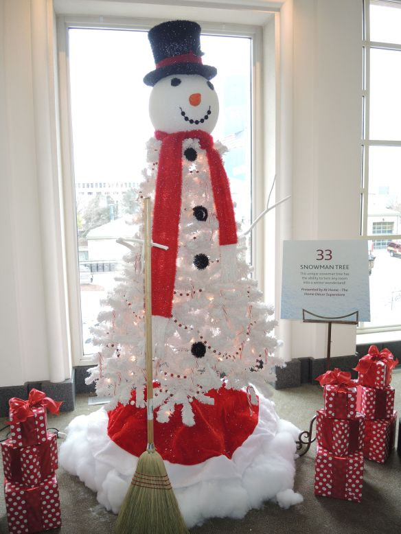 Snowman Christmas Tree at Indiana Historical Society FOTrees
