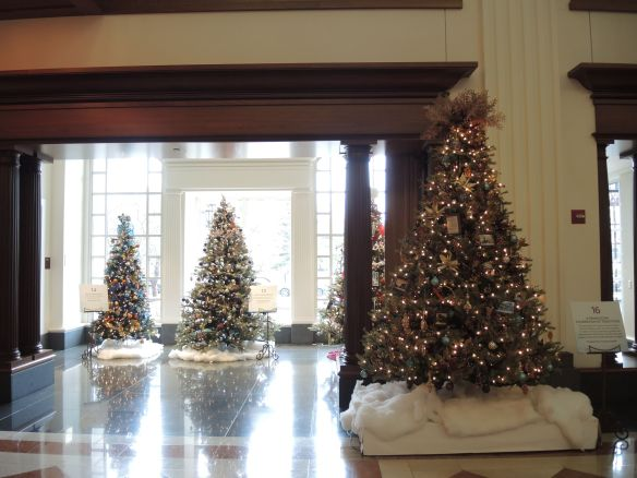 Christmas trees in the main hall at the Indiana Historical Society FOTRees in Indianapolis