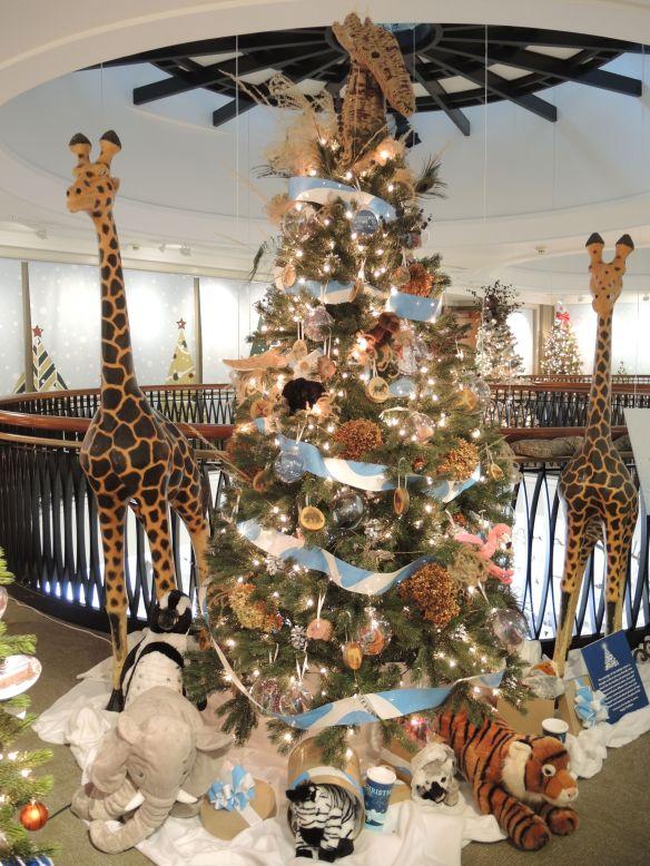 Zoo Christmas tree at Indiana Historical Society Festival of Trees
