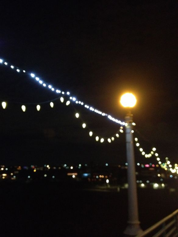 Manhattan Beach Pier holiday lights