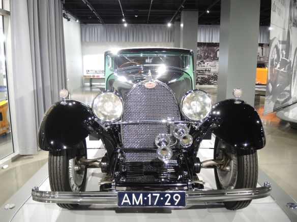1931 Bugatti Type 50 S on display at Petersen Automotive Museum
