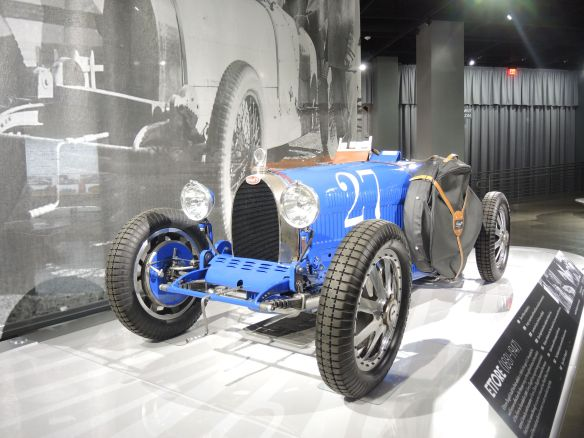 The 1925 Bugatti Type 35C Grand Prix on display at the Petersen Automotive Museum