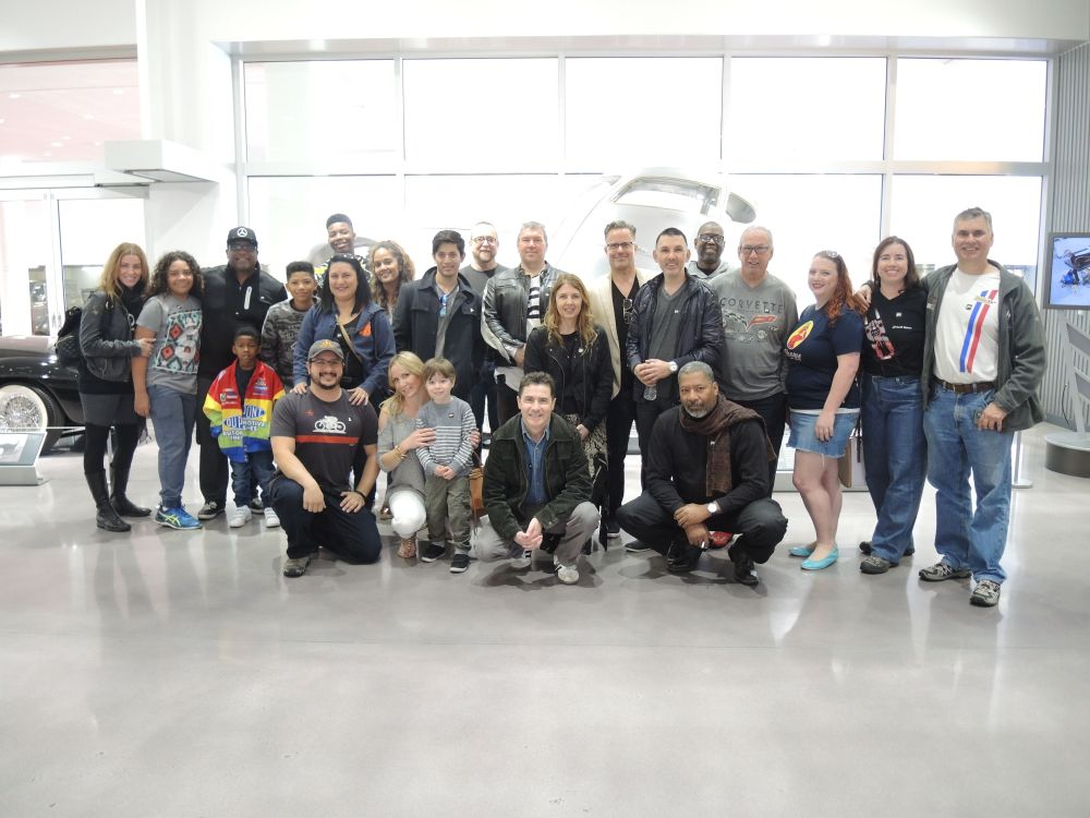 LA F1 Fans group photo before our Petersen Automotive Museum tour