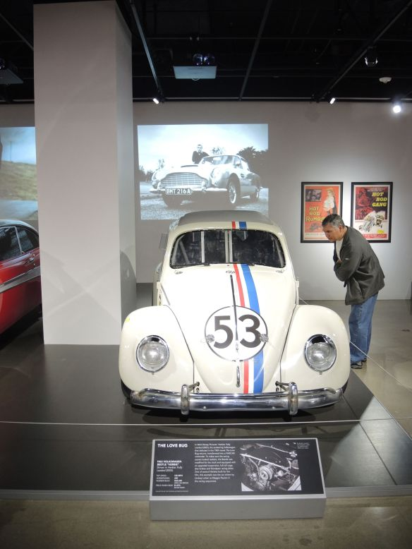1963 Volkswagen Beetle, Herbie, driven in the film Herbie Fully Loaded on display at Petersen Automotive Museum