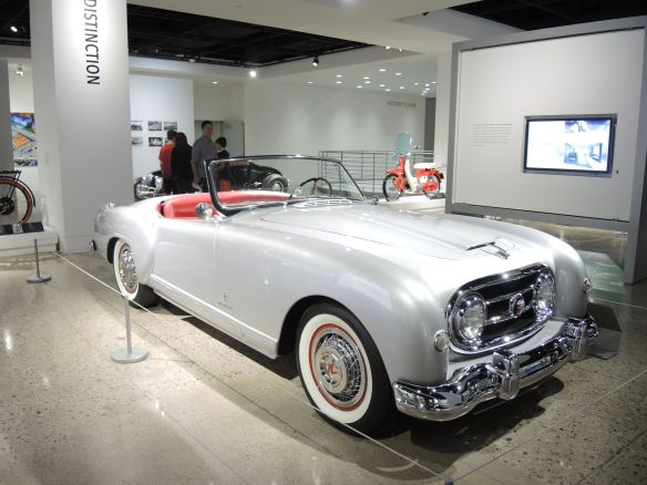 1953 Nash-Healey designed by Pinin Farina on display at Petersen Automotive Museum