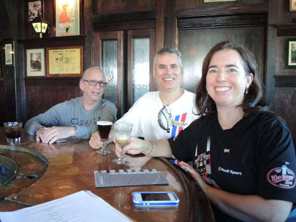 LA F1 fans enjoy Irish coffee at Tom Bergin's after a visit to the Petersen Automotive Musuem