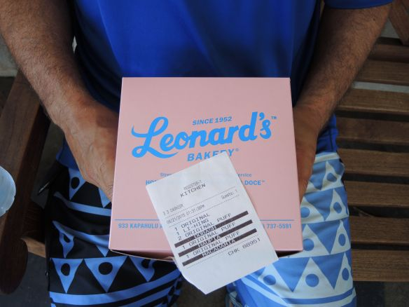 Box of Leonard's malasadas in Honlulu, Oahu, Hawaii August 2015