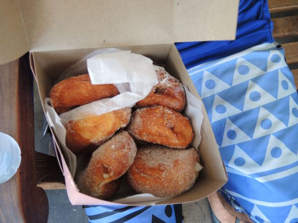 Malasadas from Leonard's bakery, honolulu, oahu, hawaii, august 2015