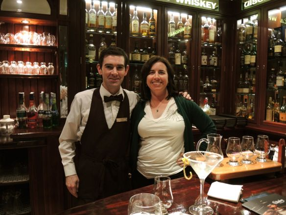 Irish whiskey tasting at the Malton Hotel, Killarney, Ireland