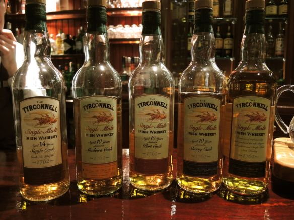Tyrconnell Irish Whiskey tasting at the Malton Hotel in Killarney, Ireland.