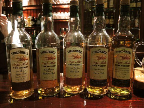 Tyrconnell Irish Whiskey tasting at the Malton Hotel in Killarney, Ireland.