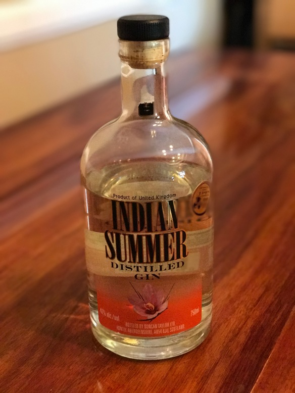 Indian Summer gin infused with saffron