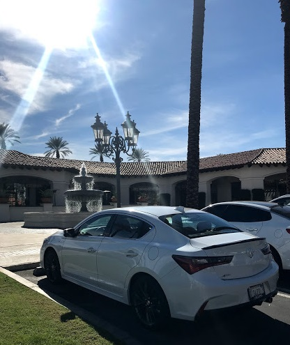 Acura ILX parked at IW Coffee in Indian Wells for A Girls Guide to Cars #drive2learn conference