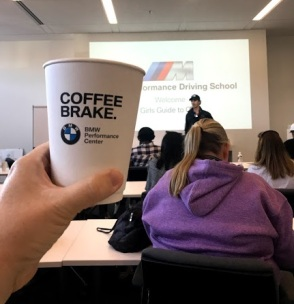 BMW Coffee brake BMW Performance Driving School #drive2learn #agirlsguidetocars