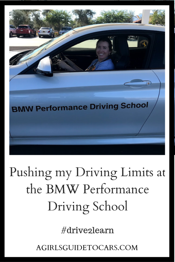 Pushing my driving limits at the BMW performance Driving School in Thermal, CA with A Girl's Guide to Cars #Drive2Learn Conference