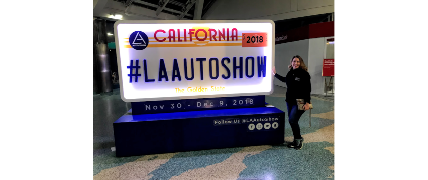 #LAAUTOShow California license plate Kiera Reilly