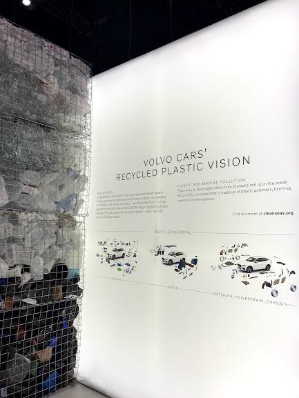 LA Auto Show Volvo plastic recycling #LAAutoShow
